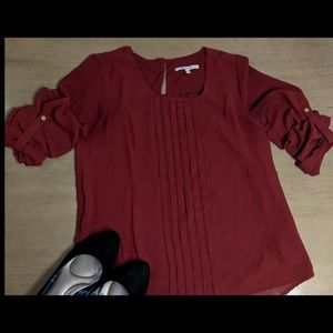 Naked Zebra Urban Outfitters Maroon Top Size Small